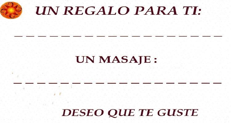 Cheque Regalo Masaje